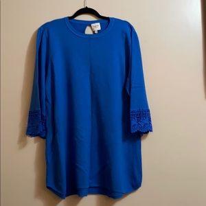 Blue boutique long sweater